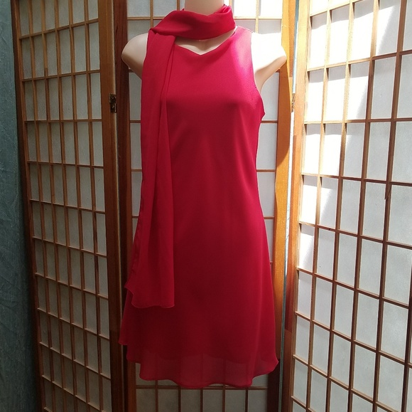 Alyn Paige Dresses & Skirts - Alyn Paige Red dress w/ matching scarf Sz 5/6